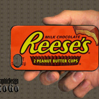 iPhone 4 case Reese's Peanut Butter Cup design by aGoGoDesign