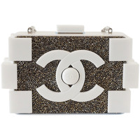 CHANEL bag Boy Brick RUNWAY beaded WHITE nwt Limited Edition