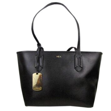 Ralph Lauren Black Medium Shopper Satchel