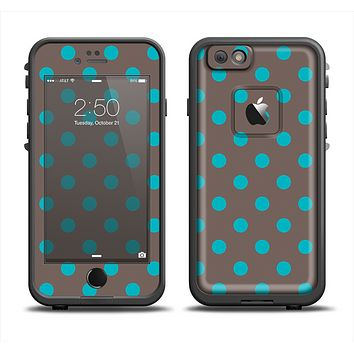 The Gray & Blue Polka Dot Apple iPhone 6 LifeProof Fre Case Skin Set