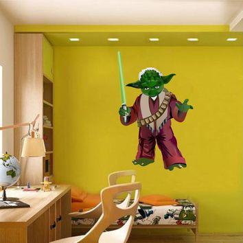 cik1274 Full Color Wall decal Star Wars Jedi master Yoda bedroom children's room