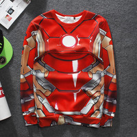 Harajuku Hot Sale cotton Hoodies men hip Hop 3 d ed hoodies men Iron man individuality creative fleece Sweatshirts