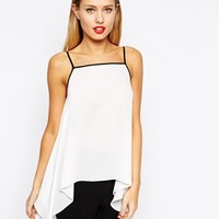 ASOS Hanky Hem Square Neck Cami at asos.com