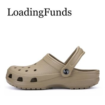 LoadingFunds Couple Lovers Beach Outdoor Sandals Shoes For Men Women Quick Drying Summer Light Slipper Gardening Shoes Plus Size