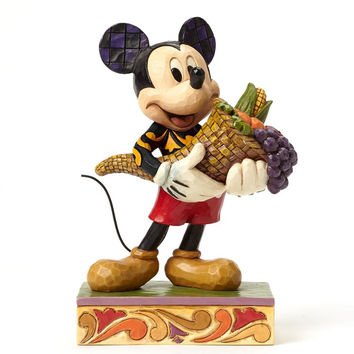 Bountiful Blessings  Autumn Mickey Mouse - DISNEY TRADITIONS BY JIM SHORE-4046029