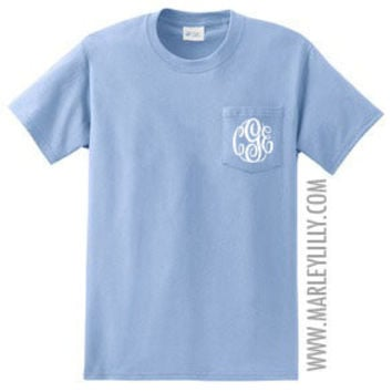 Monogrammed Short Sleeve T-Shirt | Personalized & Preppy | Marley Lilly