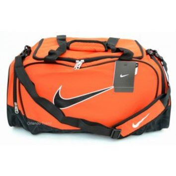 Nike Brasilia 5 Orange and Black Medium Duffel Bag at OrlandoTrend.com
