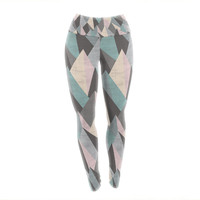 "Michelle Drew ""Mountain Peaks III"" Pastel Geometric Yoga Leggings"
