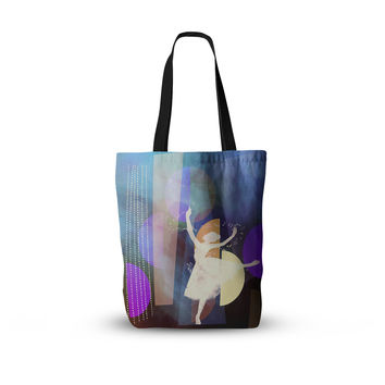"alyZen Moonshadow ""Blue Ballet"" Multicolor Purple Everything Tote Bag"