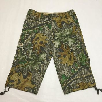 Men's Bionic Tactical Hunting Camouflage Shorts For Outdoor Sports Fishing Camping Hiking Shorts Male Camo Cargo Shorts
