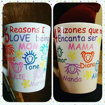 Mother's Day Coffee Mug, Reasons Why I Love Being A Mom Grand Mom, Mothers Coffee Mug, Mom Mug, Mom Cup, Gift For Mom