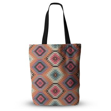 "Amanda Lane ""Southwestern Dreams"" Orange Pink Everything Tote Bag"