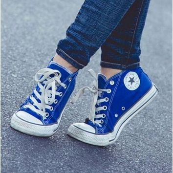 """Converse"" Fashion Canvas Flats Sneakers Sport Shoes Low tops Blue G"