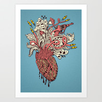 Heart War Art Print by ArtOne