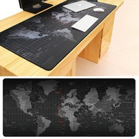 World Map Locking Edge Mouse Pad in Three Sizes
