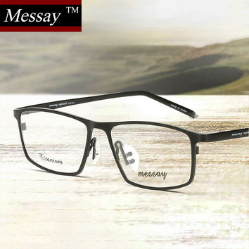 titanium eyewear colr  MESSAY Brand Glasses P8184 Titanium Eyeglasses Frames Men Optical Glasses  Frame Mens Eyewear Frames suit Prescription