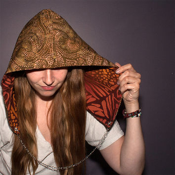 Festival Hood - Reversible with Interchangeable Chain - Ruby Nomad