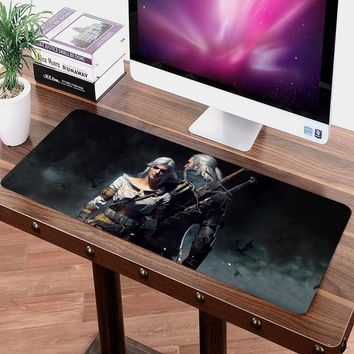 70x30cm DIY Customize Rubber Mouse Pad Anti-slip Mice Mat  Pattern Computer Mousepad Gaming The Witcher 3 Wild Hunt Mouse Mat