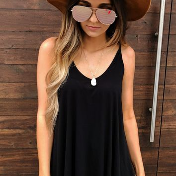 Summer Feels Tank: Black