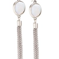 Lucky Brand Pearl Chandelier Drops Womens - Silver (One Size)