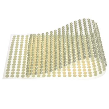 Plastic Pearls Flat Bead Self Adhesive Stickers, 5mm, 38-Strips, Ivory