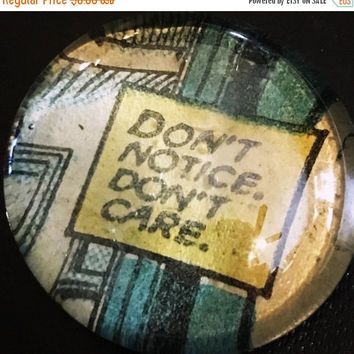 On Sale Dont Care Comic Glass Pebble Magnet