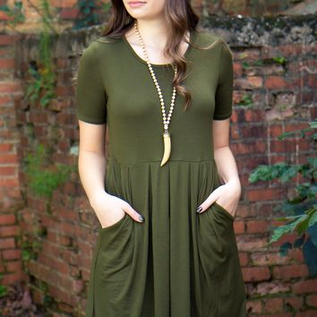 Ready For Anything Dress - Olive