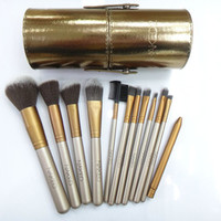 2015 Brand Nake New Gold Professional NK 2 Makeup Brushes Set 12 pcs Kit w/ Leather Cup Holder Case kit-in Makeup Brushes & Tools from Health & Beauty on Aliexpress.com   Alibaba Group