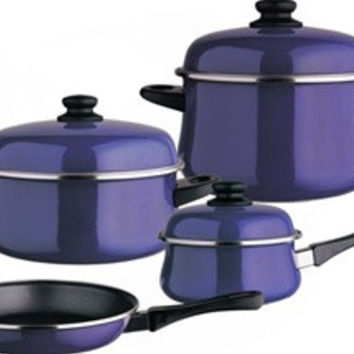 Classic Danubio Enamel On Steel 7 Piece, Cookware Set