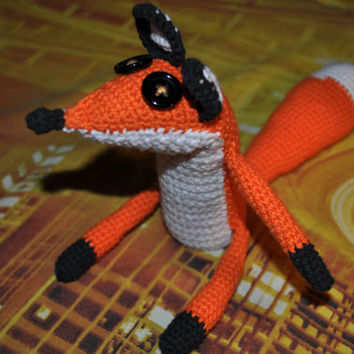 Fox, Crochet fox, fox for gift