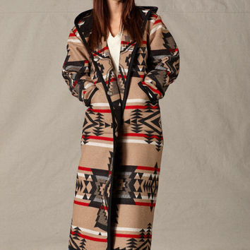 Womens Coats, Reversible Long Coat, Black Diamond, Pendleton® Jacket