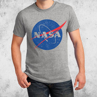 NASA Vintage Insignia Adult T-shirts Space science School College Shirt Youth Adult Baby sizes S-4XL