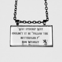 Limb and Fingers Jewelry Shop- Ron Weasley Butterfly Quote Harry Potter Necklace