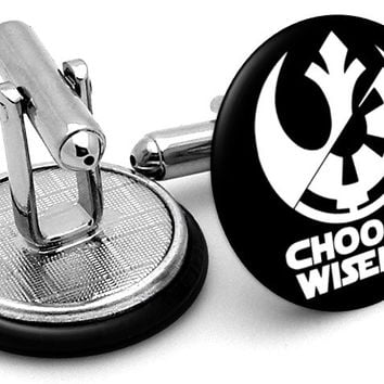 Star Wars Choose Wisely Cufflinks