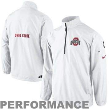 Nike Ohio State Buckeyes Lockdown Half Zip Performance Jacket - White -