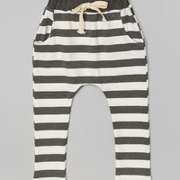 Gray Stripe Harem Pants - Infant, Toddler & Kids | zulily