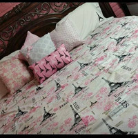 Pink Paris Bedding Set