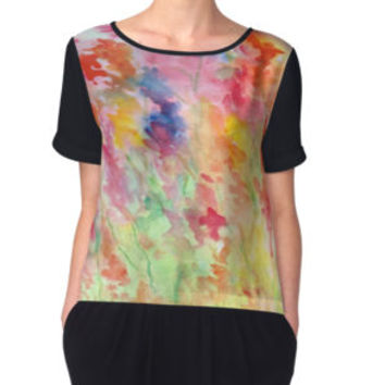'Gladiolus' Women's Chiffon Top by Rosie Brown