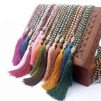 Vintage Buddha Tassel Necklace