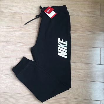 NIKE Woman Men Fashion Drawstring Sport Pants Trousers Sweatpants