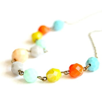 Breezy Summer Beaded Necklace