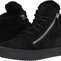 Giuseppe Zanotti Mens May London Mid Top Shearling Sneaker