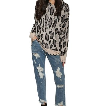 Decker Leopard Hooded Sweater