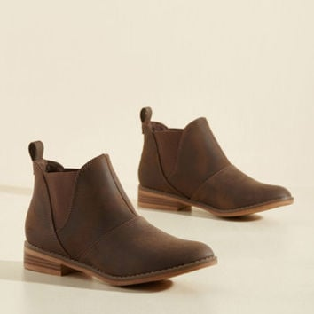 Used Book Browsing Bootie in Brown | Mod Retro Vintage Boots | ModCloth.com