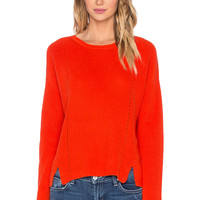525 america Crew Neck Crop Sweater in Red