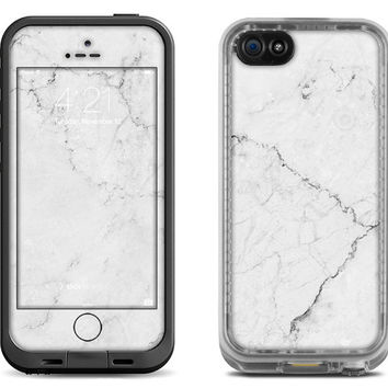 White Marble Stone - Lifeproof iPhone 6 Fre Nuud, LifeProof iPhone 5 5S 5C Fre Nuud, Lifeproof iPhone 4 4S Fre Case Decal Skin Cover