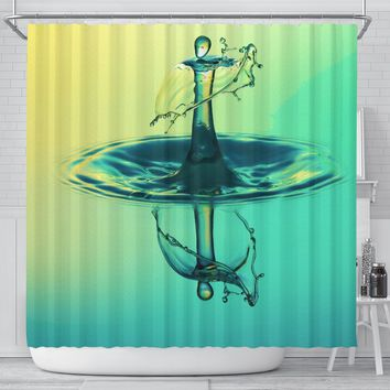 Shower Curtain Alien Waterdrop