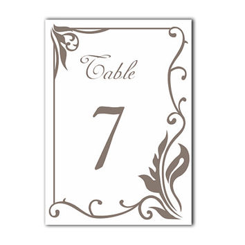 Printable Table Numbers DIY Instant Download Elegant Table Numbers White Gray Wedding Table Numbers Printable Table Cards Digital (Set 1-20)