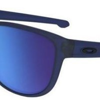 OAKLEY 9342 09 SLIVER R SUNGLASSES MATTE TRANSLUCENT BLUE SAPPHIRE IRIDIUM SOLE