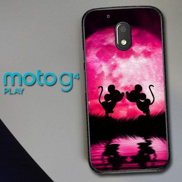 Mickey Minnie Mouse Silhouette W4418 Motorola Moto G4 Play Case